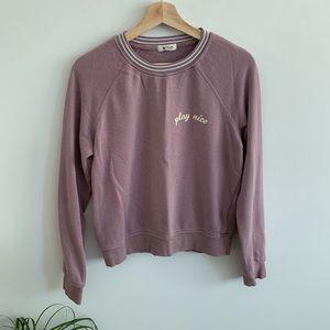 3/20$ Garage - Purple Crewneck Sweater - Play Nice